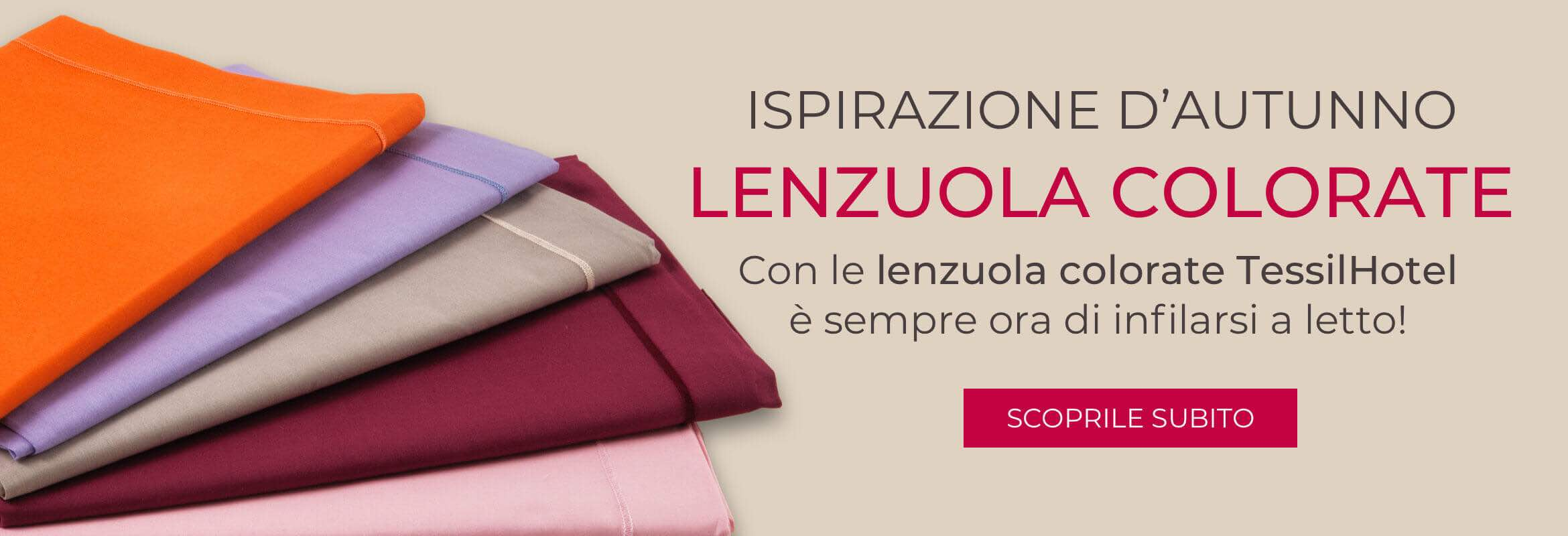 COLORA L'AUTUNNO CON LENZUOLA COLORATE